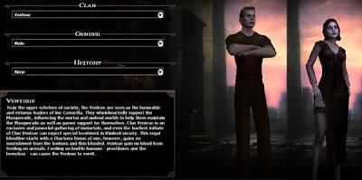 Creazione personaggio Vampire Bloodlines