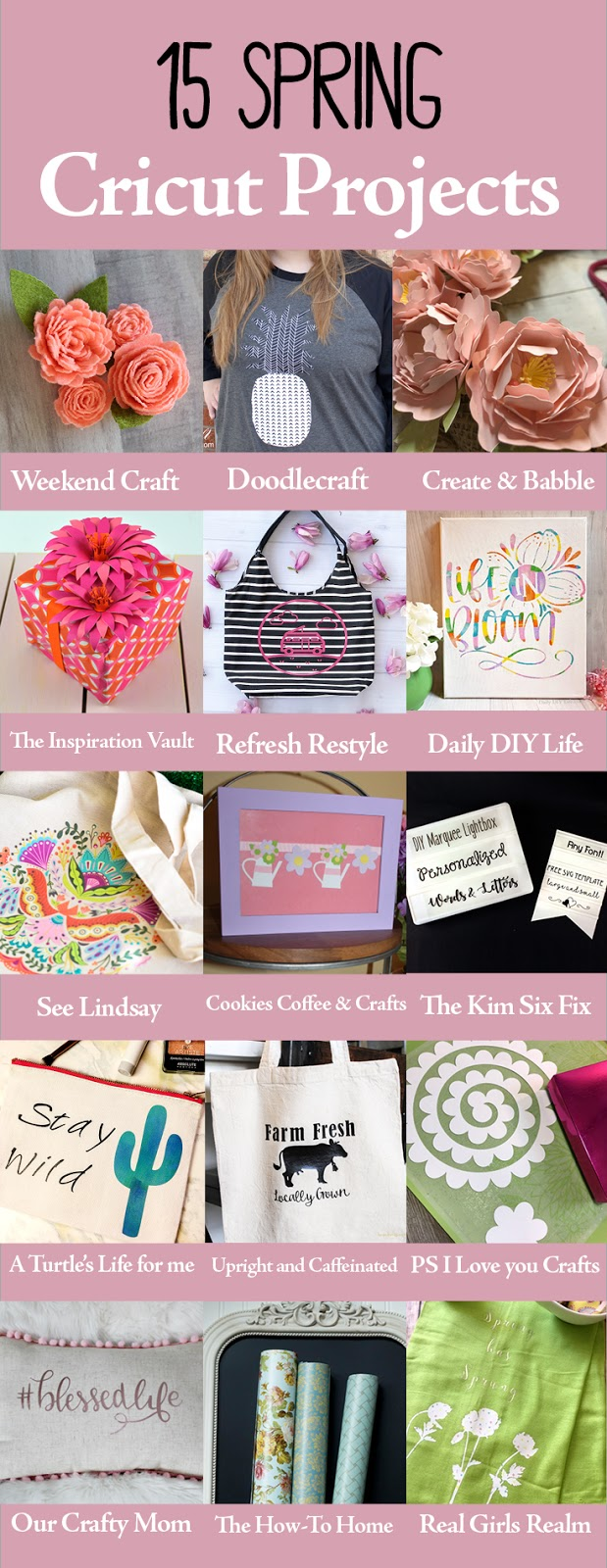 Get crafting with Cricut with inspiration from these 15 Spring projects! #CraftandCreatewithCricut #cricutmade