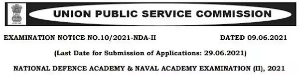 UPSC NDA and Naval Academy Examination (II) 2021