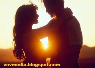 Loving Couple Under the Evening Sun