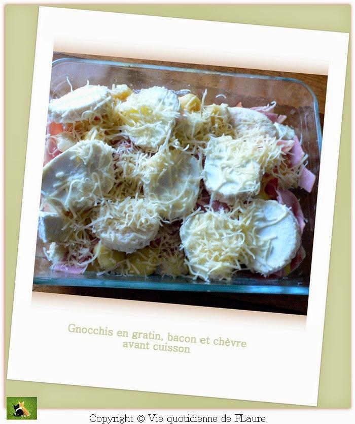 Vie quotidienne de FLaure: Gnocchis en gratin, bacon et chèvre
