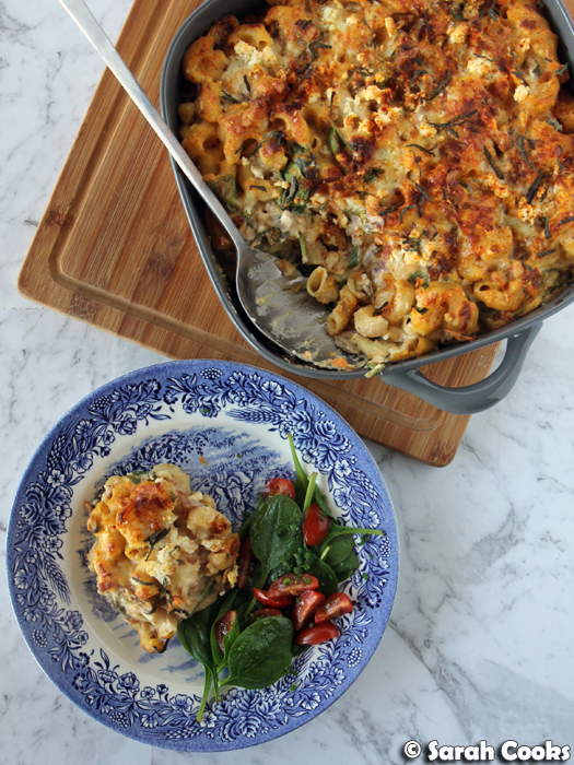 Fully Loaded Sweet Potato Mac & Cheese