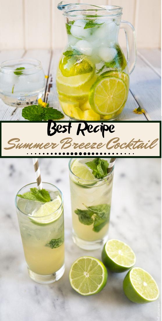 Summer Breeze Cocktail  #healthydrink #easyrecipe #cocktail #smoothie