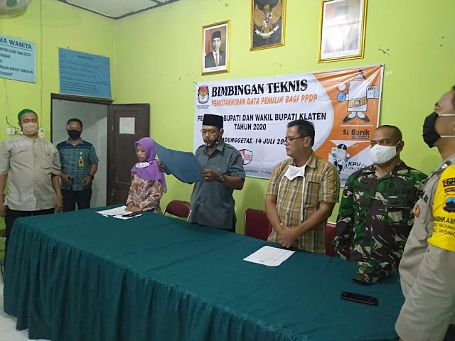 Babinsa Koramil  Wonosari Hadiri Bimtek Dan Pelantikan PPDP Jelang Pilkada Klaten