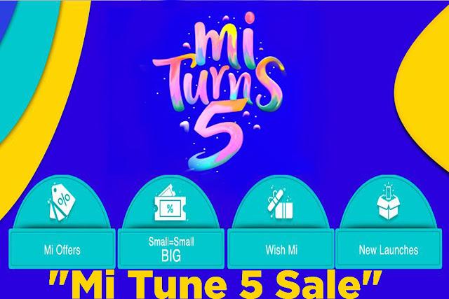 """""""Mi Tune 5 Sale"""" Mi.com पर 5/- रूपए का फ्लैश सेल: Redmi Note 7  Pro, Mi LED TV को 5 रुपये में खरीदें [23rd to 25th July 2019 On  4PM और  6PM]"""