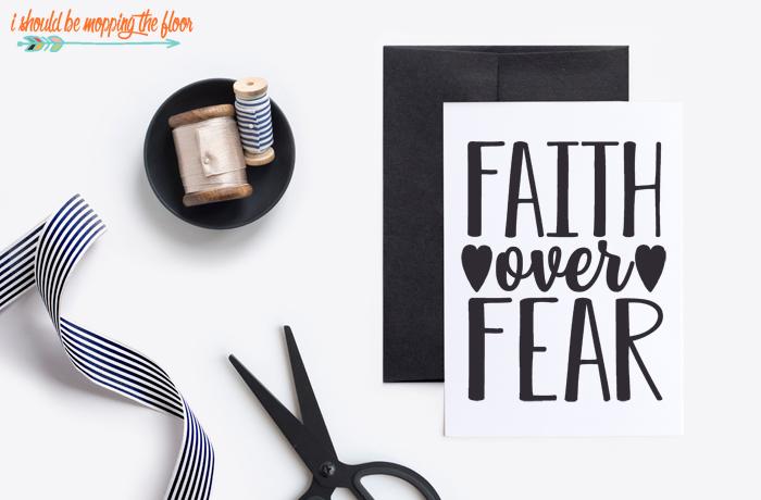 Faith Over Fear Greeting Card
