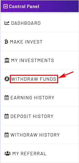 Вывод средств в Royal Crypto