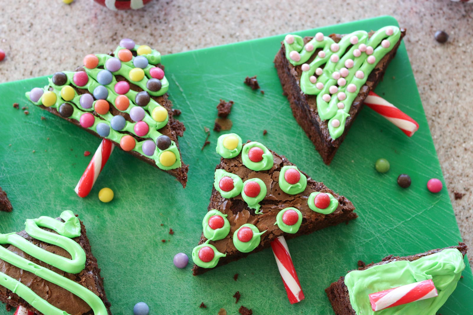 Pinterest Christmas Tree Brownies | Cate Renée