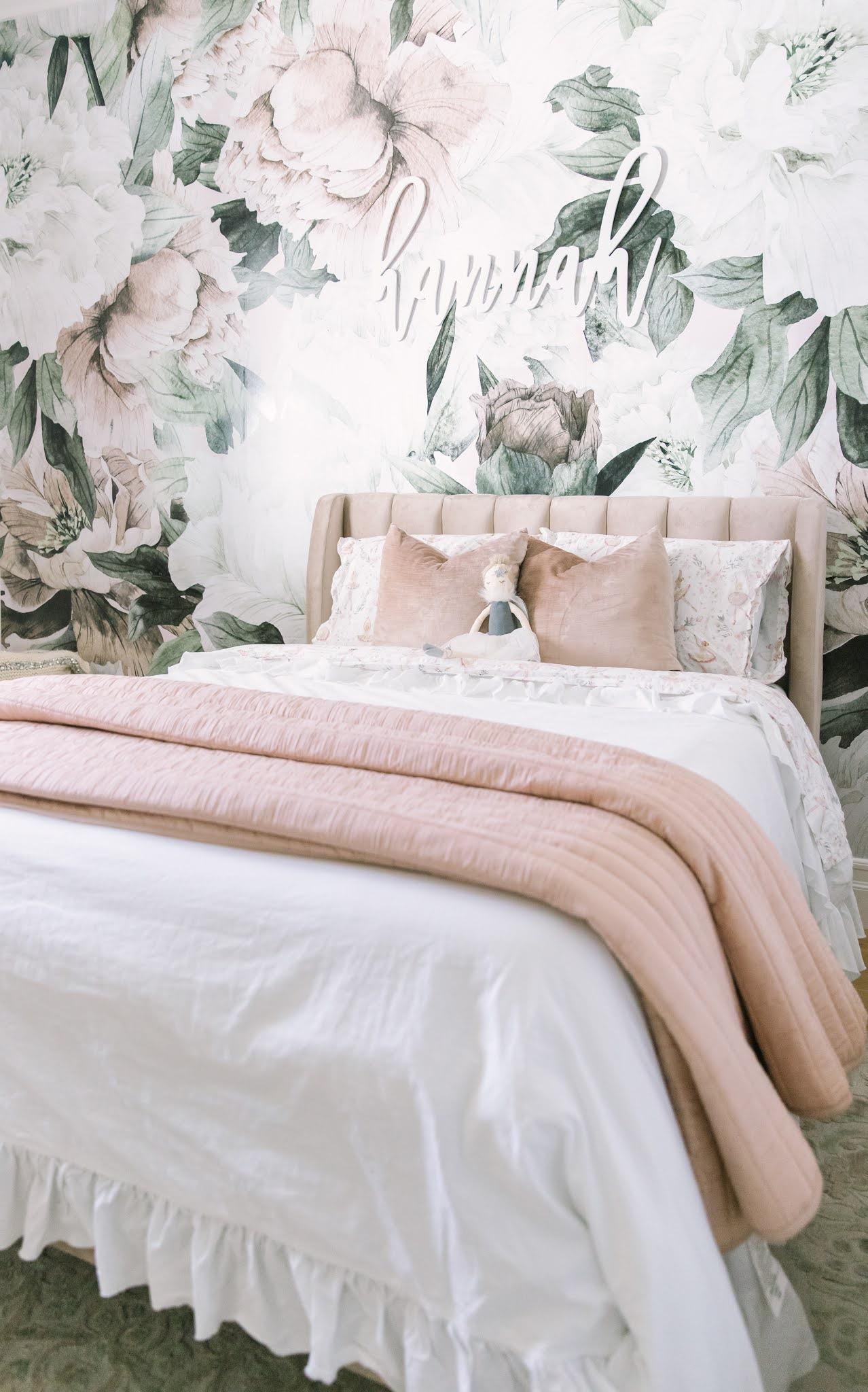 blush and gold big girl room