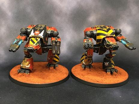 Legio Ignatum Warhound Titans for Adeptus Titanicus