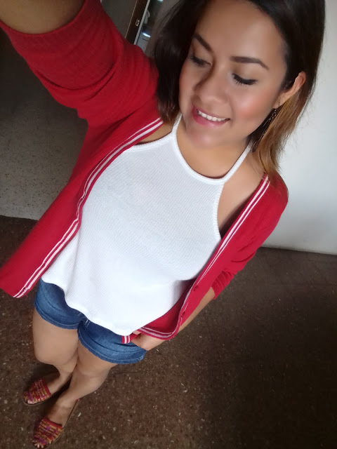 Red outfit Lizzy Justiniano