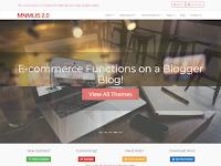 BlogrCart MNMLIS Blogger Template