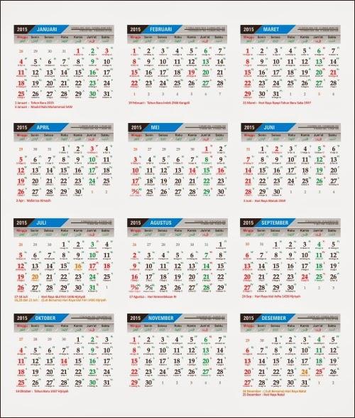 template kalender coreldraw