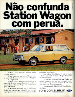 propaganda Ford Corcel Belina - 1970, os anos 70; brazilian cars in the 70s; Oswaldo Hernandez; década de 70;