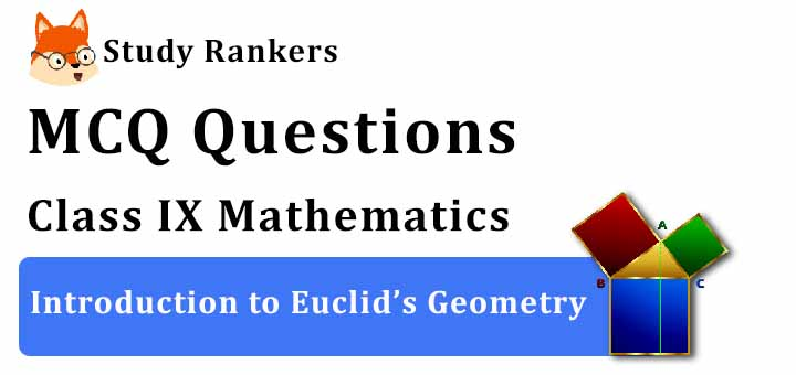 MCQ Questions for Class 9 Maths: Ch 5 Introduction to Euclid's Geometry