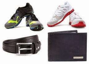 Flat 50% Off on Men's Puma / Adidas / Reebok Sports Shoes | Belts & Wallets- Van Heusen / Louis Phillipe @ Flipkart (Limited Period Offer)