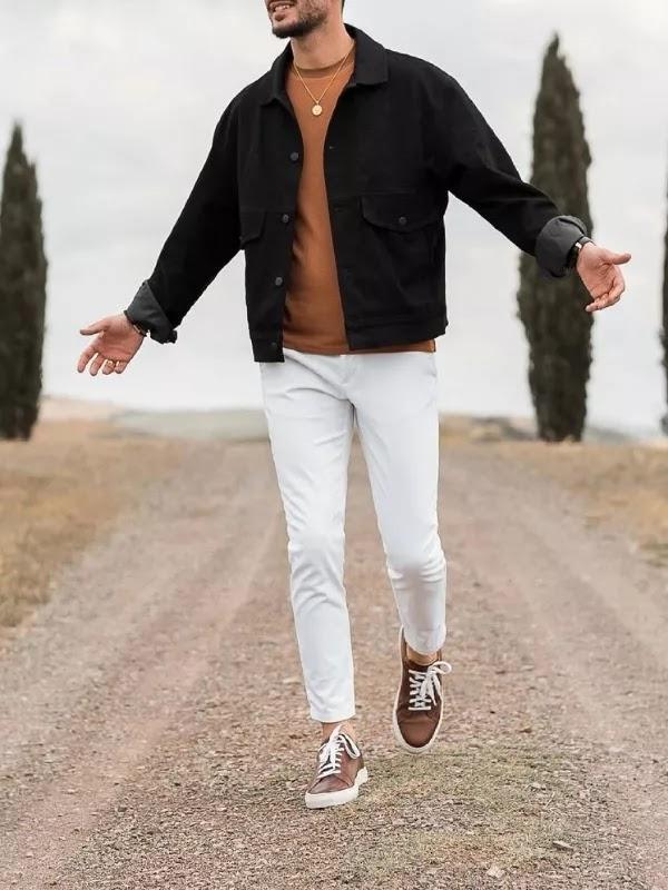 Sweatshirts with denim jacket