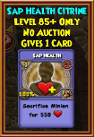 Sap Health - Wizard101 Card-Giving Jewel Guide