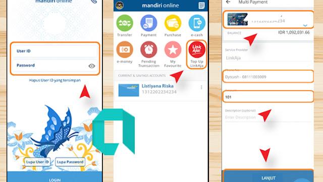 Cara Isi Saldo Linkaja Lewat Mandiri Online Di Android Dengan Mudah
