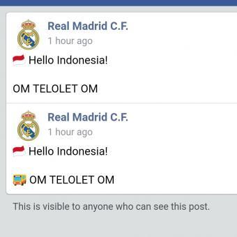 """Sapa Penggemar Di Indonesia, Real Madrid Pasang Status """"Om Telolet Om"""""""