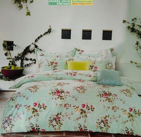 Sprei Shabby Chic Vintage Small Rose Tosca