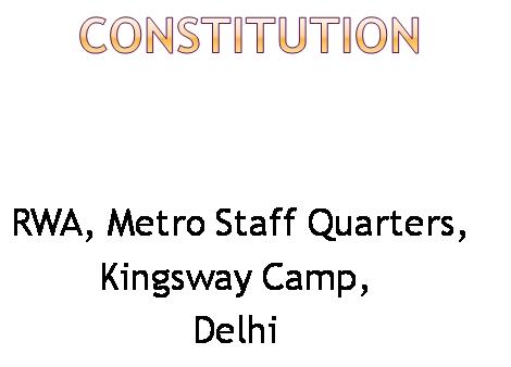 Resident Welfare Association, Metro Staff Quarters (AIR