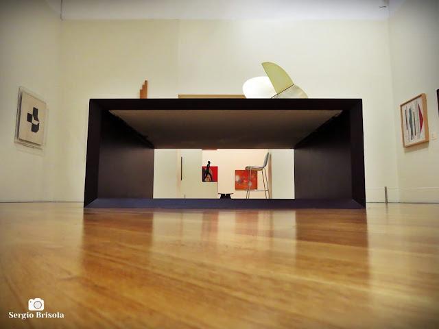 Fotocomposição de espaço expositivo da Pinacoteca de São Paulo - Luz - São Paulo