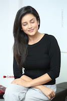 Telugu Actress Mishti Chakraborty Latest Pos in Black Top at Smile Pictures Production No 1 Movie Opening  0160.JPG