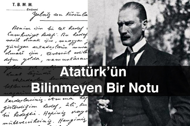 Atatürkün Bilinmeyen Bir Notu OK Tarih