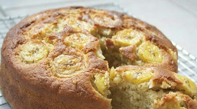 Banana Cake Without Sugar, Without Flour