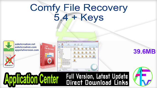 Comfy File Recovery 5.4 + Keys