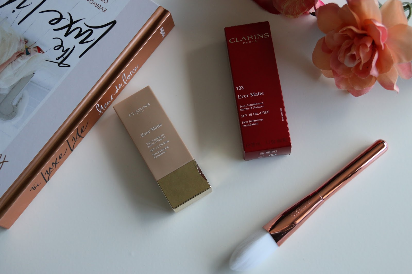 Clarins Ever Matte Foundation in 103 Ivory for Oily Skin Review Image