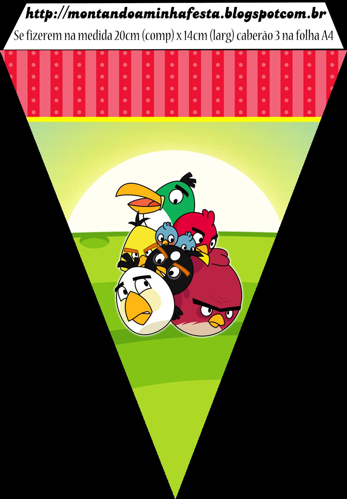 Imprimibles de Cumpleaños de Angry Birds para imprimir gratis.