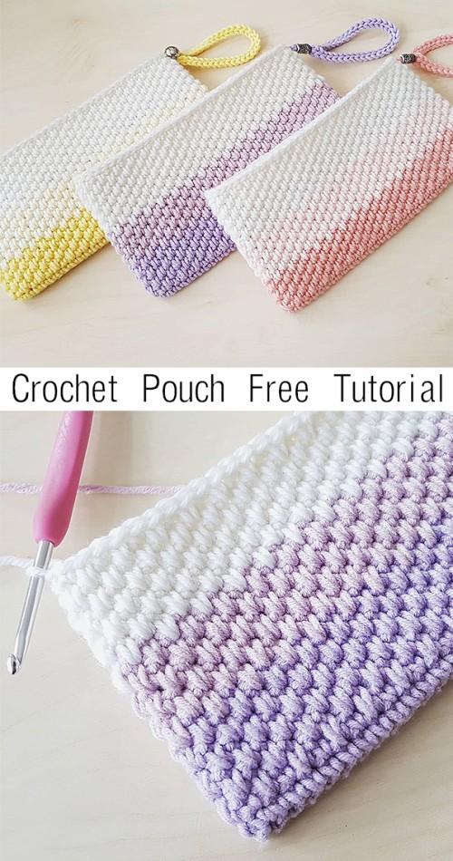 Crochet Pouch - Free Crochet Tutorial