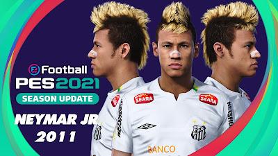 PES 2021 Faces Neymar Jr 2011 by Love01010100
