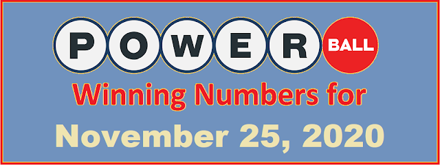 PowerBall Winning Numbers for Wednesday, November 25, 2020