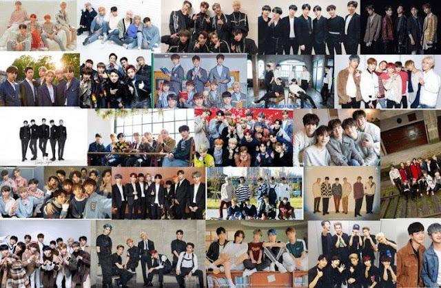 posisi boyband dan girlband korea