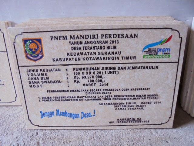 Prasasti Marmer PNPM Harga Murah