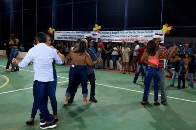 Inauguração da Quadra Poliesportiva da comunidade Araçás II