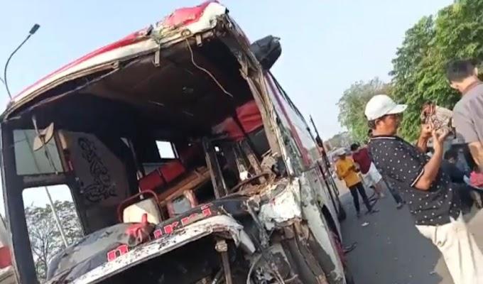 Lagi-lagi, Bus Murni Alami Lakalantas di Jalan Tol, Kali ini Seruduk Arimbi