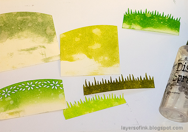 Layers of ink - Mixed Media Springtime Tag Tutorial by Anna-Karin Evaldsson, with Simon Says Stamp DieCember dies.