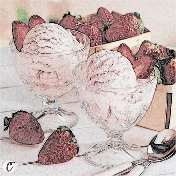 Strawberry Ice Cream 🍨