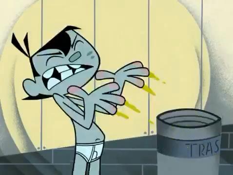 Cartoon Shirtless Boys: Johnny in his underwear