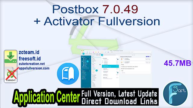 Postbox 7.0.49 + Activator Fullversion
