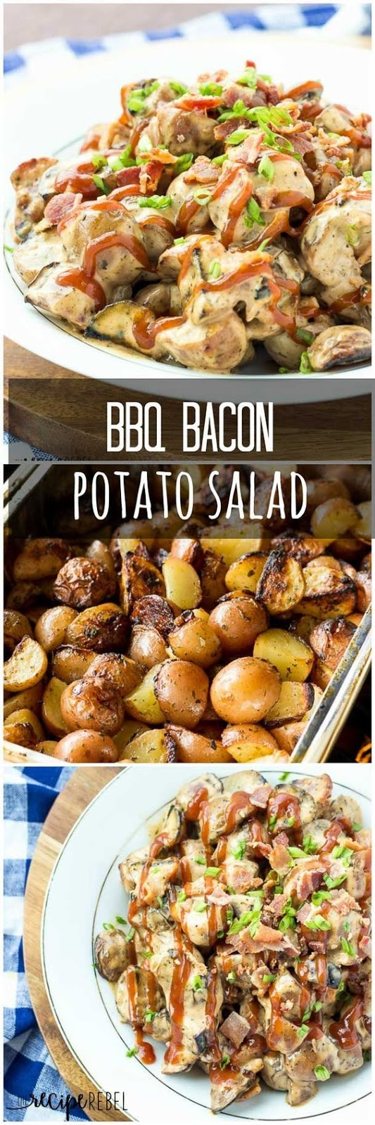 BBQ Bacon Potato Salad with Grilled Potatoes