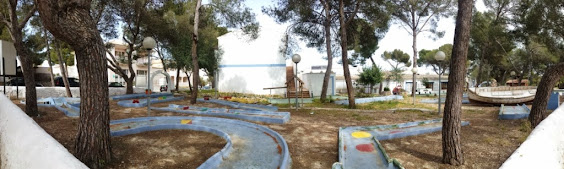 The Minigolf course at Vista Alegre in Porto Cristo, Majorca by Nina Dukes 120415