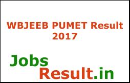 WBJEEB PUMET Result 2017