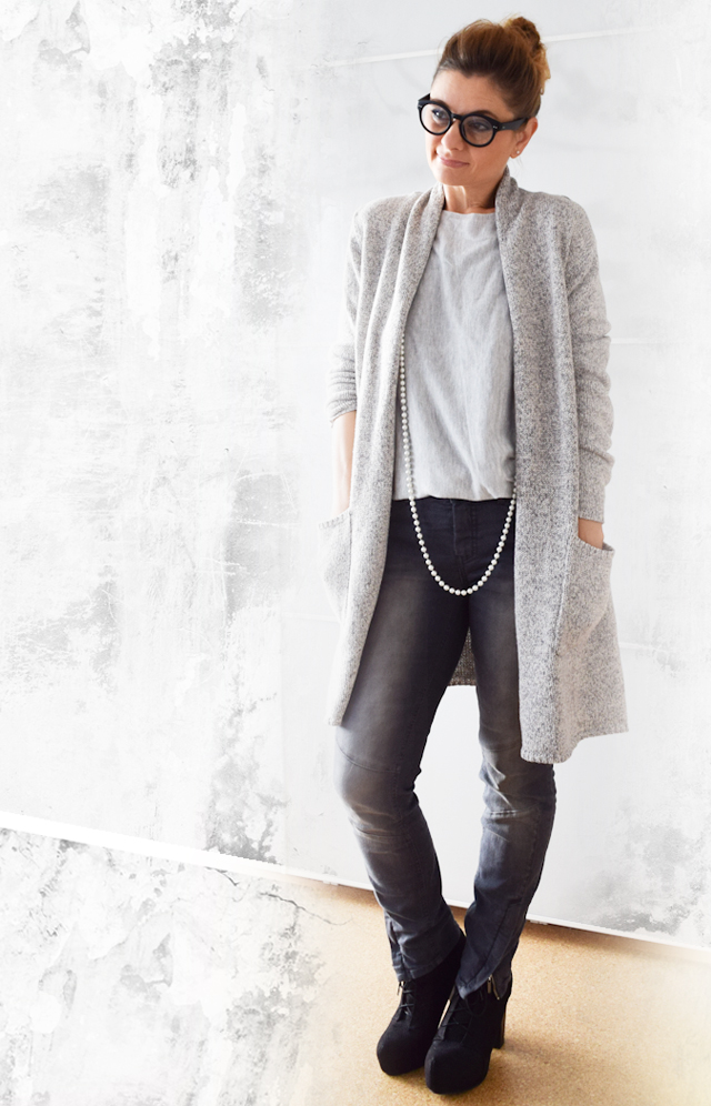 Longcardigan plus Jeans