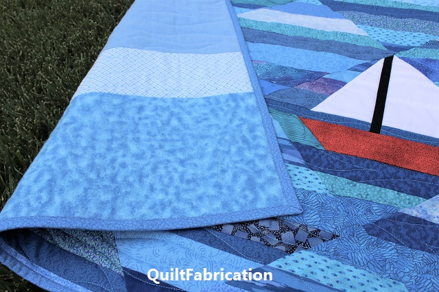 Seafarer backing by QuiltFabrication