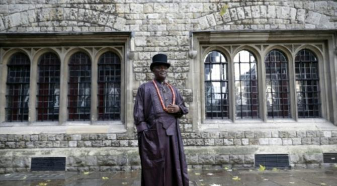 Nigerian tribal king Emere Godwin Bebe Okpabi has flown to London for a High Court hearing in which lawyers for more than 40,000 Nigerians are demanding action from Shell to clean up oil spills.